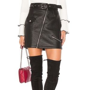 NEW WOT Revolve MINKPINK Faux Leather Biker Skirt